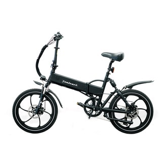 Joulvert Stealth Folding Electric Bicycle, 20 inch wheels, Black