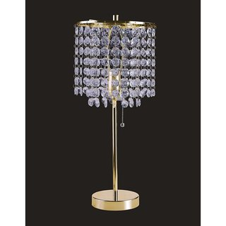 "Q-Max 19"" Gold Crystal Inspired Table Lamp"