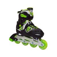 Epic Rage Boys Black Nylon Inline Indoor/ Outdoor Adjustable Recreational Skates
