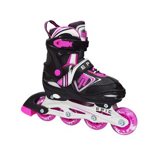 Epic Fury Black/Pink Inline Indoor/Outdoor Adjustable Recreational Skates