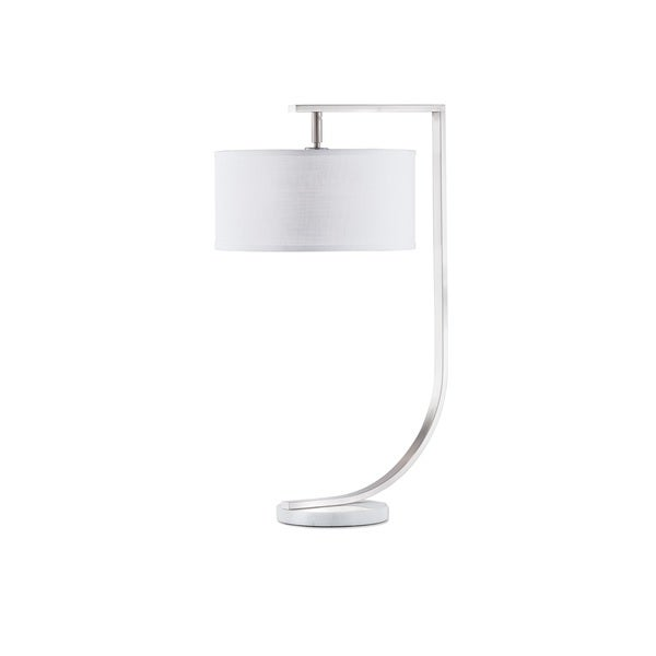 Nova Lighting Brushed Nickel Library Table Lamp