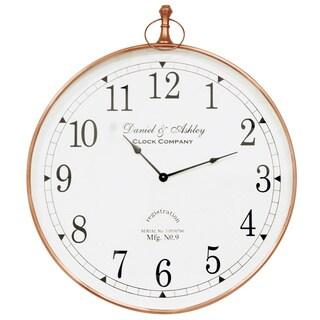 Saffron Fabs Copper-finish Steel 24-inch Round Wall Clock