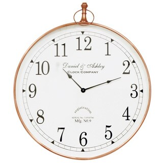 Saffron Fabs Steel 24-inch Round Wall Clock