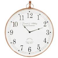 Saffron Fabs Steel 24-inch Round Wall Clock