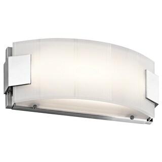 Kichler Lighting Largo Collection 12-inch Chrome LED Linear Bath/Vanity Light