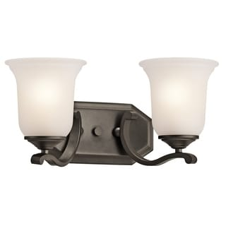 Kichler Lighting Wellington Square Collection 2-light Olde Bronze Bath/Vanity Light