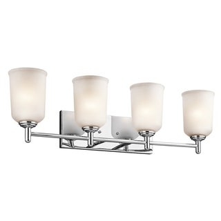 Kichler Lighting Shailene Collection 4-light Chrome Bath/Vanity Light