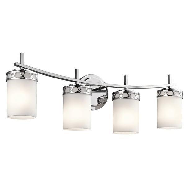 Kichler Lighting Reviews: Shop Kichler Lighting Marlowe Collection 4-light Chrome