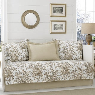laura ashley bedford mocha 5piece daybed cover set