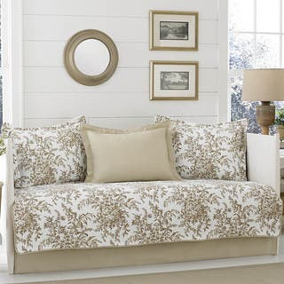 Laura Ashley Bedford Mocha 5-piece Daybed Cover Set|https://ak1.ostkcdn.com/images/products/14564609/P21113473.jpg?impolicy=medium
