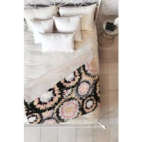 Marta Barragan Camarasa Abstract Flowers Mosaic Fleece Throw