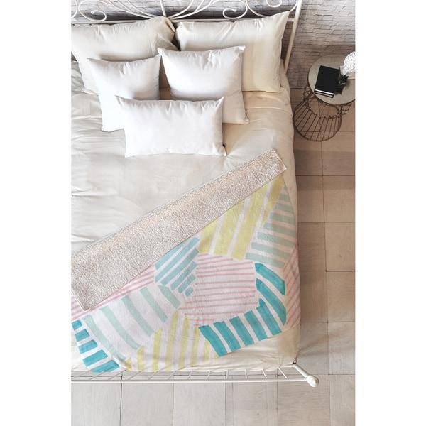 Susanne Kasielke French Reviera Seaside Stripes Fleece Throw