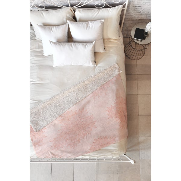 Iveta Abolina Beach Day Pink Fleece Throw