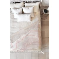 Rebecca Allen Blush Pink/White Marble Fleece Throw
