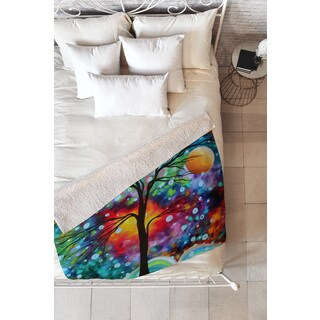 Madart Inc 'A Moment In Time' Multicolored Fleece Throw