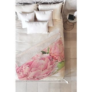 Lisa Argyropoulos Pink Peonies Fleece Throw