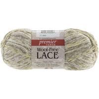 Wool-Free Lace Yarn-White Gold