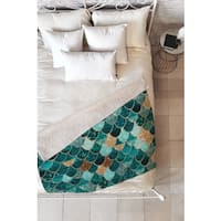 Monika Strigel Really Mermaid Fleece Throw