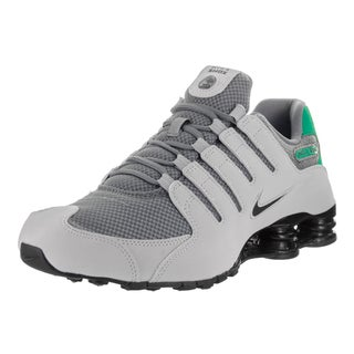 Nike Men's Shox NZ SE Grey Synthetic Leather Running Shoes
