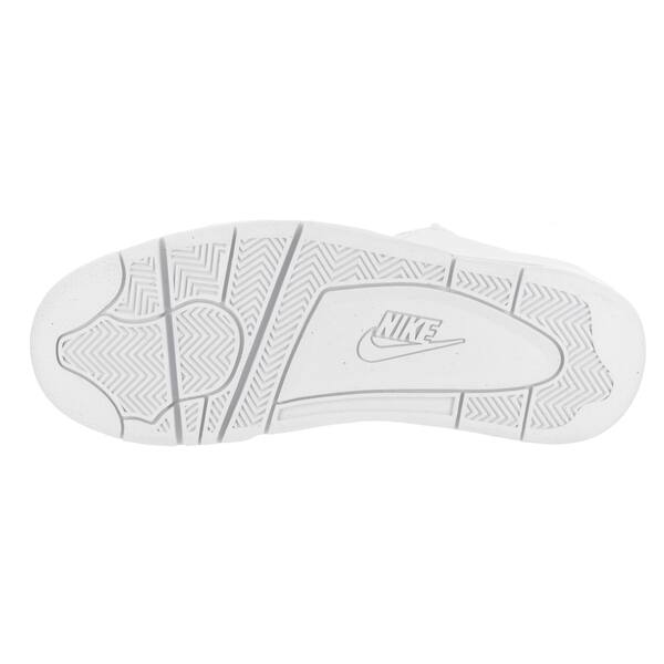miel Esta llorando Identificar  Nike Men's Air Flight Classic White Leather Basketball Shoes - Overstock -  14564867