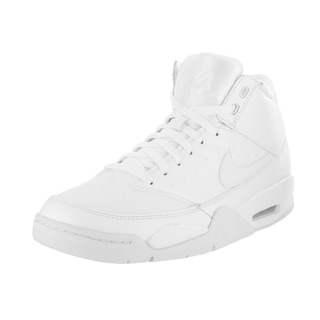 Nike Men's Air Flight Classic White Leather Basketball Shoes