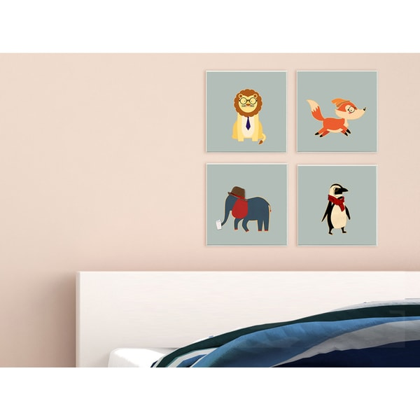 'Hipster Elephant with Fedora' Wall Plaque Art