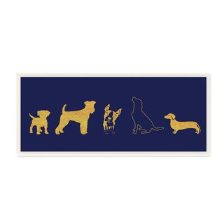 Stupell Dog Silhouette Gold/Navy Wall Plaque Art