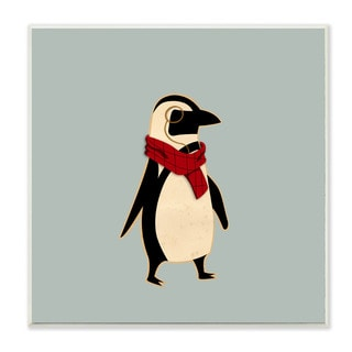 Stupell 'Hipster Penguin With Scarf' Wall Plaque Art