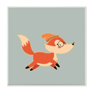 Stupell 'Hipster Fox with Beanie' Wall Plaque Art