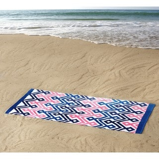 Clairebella Diamond Chevron 100% Cotton 36x72 Beach Towel