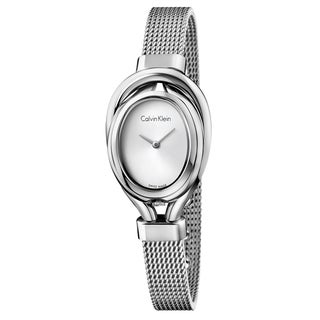 Calvin Klein Women's Belt K5H23126 Silver Strap with Silver Dial Stainless Steel Watch