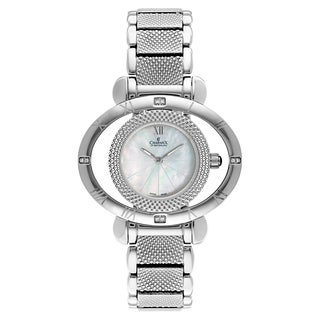 Charmex Women's Florence 6200 Silver Strap with White Mother-of-pearl Dial Stainless Steel Watch