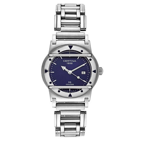 Certina Women's DS Cascadeur Silver Strap with Blue Dial Stainless Steel Watch