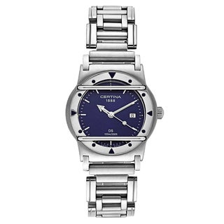 Certina Women's DS Cascadeur C129-8100-42-59 Silver Strap with Blue Dial Stainless Steel Watch