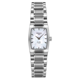 Certina Women's DS Spel Silver Strap/White Mother-of-Pearl Dial Titanium Watch