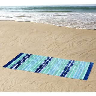 Clairebella Drops 100% Cotton 36x72 Beach Towel