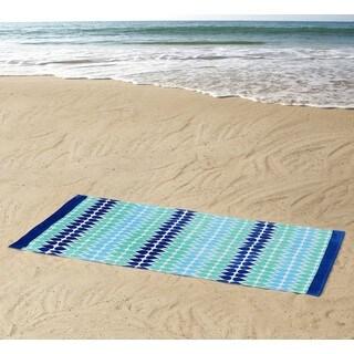 Clairebella Drops 100% Cotton 36x72 Beach Towel