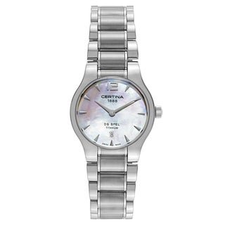 Certina DS Spel C012-209-44-117-00 Women's Titanium Watch with Silvertone Strap and White Mother-of-pearl Dial