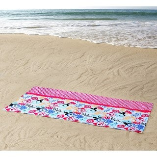 Clairebella Floral 100% Cotton 36x72 Beach Towel