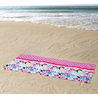 Clairebella Floral 100% Cotton 36x72 Beach Towel