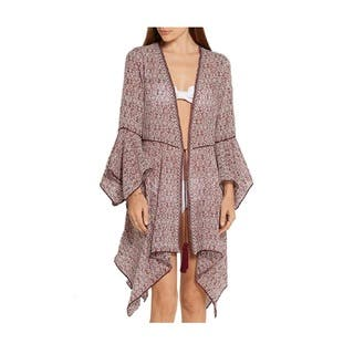 Talitha Women's Lily Silk Chiffon Burgundy Coverup|https://ak1.ostkcdn.com/images/products/14565122/P21113824.jpg?impolicy=medium