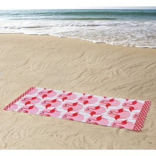Clairebella Flamingo 100% Cotton 36x72 BeachTowel