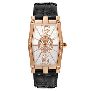Charmex Women's Nizza 6075 Black and White Leather Watch