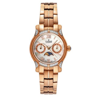 Charmex Women's Granada 6210 Rose Gold Strap with White Mother-of-Pearl Dial Stainless Steel Rose Gold PVD Coated Watch