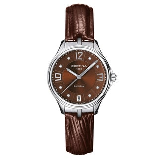 CERTINA DS Dream C021-210-16-296-00 Brown Strap with Brown Dial Leather Women's Watch