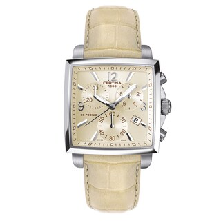 CERTINA DS Podium Ivory Strap with Ivory Dial Leather Women's Watch