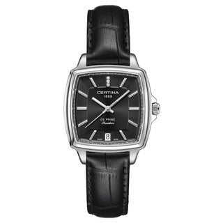 Certina DS Prime Black Stainless Steel and Leather Women's Watch