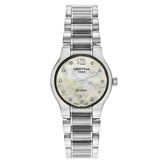 Certina DS Spel C012-209-11-116-00 Women's Silver Strap with White Mother-of-Pearl Dial Stainless Steel Watch