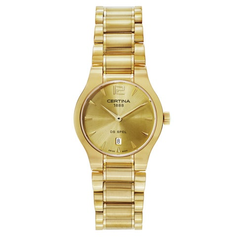Certina Women's DS Spel Stainless-steel Yellow Gold PVD Coated Watch