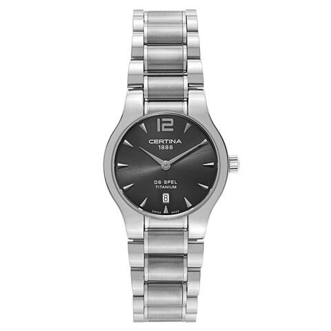 Certina Women's DS Spel Silver Strap with Dark Grey Dial Titanium Watch